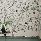 Little Greene Belton Scenic behang Oyster little greene behang detail 2