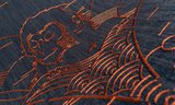 Indigo Macaque behang arte jeans apenMO3000