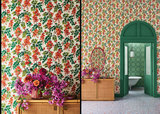 Cole and Son Bougainvillea behang 117-6016 met Cole and Son Piccadilly behang
