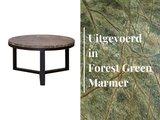 Duran Lucena Koffietafel Forest Green Marmer Ø60 cm H30 cm_