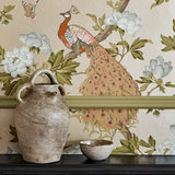 Little Greene Pavona Behang Peacock National Trust Papers