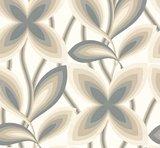 Little Greene Starflower behang - Platinum_