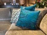 Luxury By Nature Sierkussen Stof Sahco Dalston Blue 60 x 60 cm_