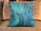 Luxury By Nature Sierkussen Stof Zoffany Phaedra Serpentine 50 x 50 cm