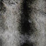 grijze fake fur bontplaid wolf nobilis loup detail PL126