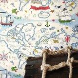 behang little sanderson Treasure Map sfeer detail
