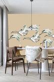 Catchii Flying Cranes Behang - Beige