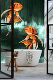 Catchii Koi Fish Art Behang - Emerald