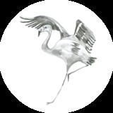 Catchii Zwart-Wit Flamingo Behangcirkel