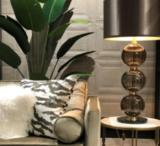 Marie Martin Smokey Tafellamp met drie glasbollen