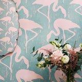 behang sanderson Flamingos vintage 2 sfeer 1