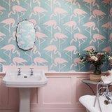 behang sanderson Flamingos vintage 2 sfeer 2