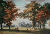 orignele werk Paul Sandby voor behang the royal collection great park view moss paneelbehang papier luxury by nature