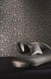 Behang Zinc Textile Halston Flock ZW109-01 gun metal sfeer Glamorama Luxury By Nature