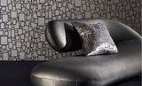 Behang Zinc Textile Halston Flock ZW109-01 gun metal sfeer 2 Glamorama Luxury By Nature