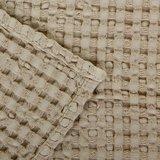 Wafel handdoek linen 770 Pousada collectie Abyss Habidecor handdoeken overlap