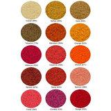 Beschikbare Kleuren in Goud - Oranje - Rood (Super Pile Serie Abyss Habidecor)
