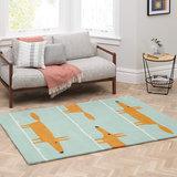 vloerkleed Mr Fox aqua tapijt carpet karpet vloerkleden amsterdam luxury by nature 2