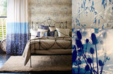 Behang Harlequin Meadow Grass 111408 sfeer gilver - blue Callista collectie luxury by nature 2
