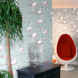 Behang Cole and Son Flamingos sfeer Contemporary Selection Luxury By Nature