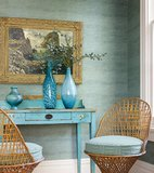 Behang Thibaut Banyan Basket T6841 Teal sfeer Luxury By Nature