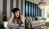 ARTE Behang Flamant Stripe Velvet and Lin sfeer 2 - Flamant Les Rayures Stripes