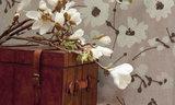 Arte Behang Flamant Metal Velvet Flower and Lin sfeer 5 Luxury By Nature