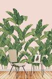 Tres Tintas Behang Bananella BA06 Bananenblad jungle sfeer