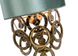 Lumière Glasschakel wandlamp met glazen ringen goud 1125 detail Luxury By Nature