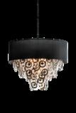 Lumière Glasschakel Hanglamp met glazen ringen zilver H701 Luxury By Nature