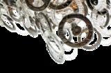 Lumière Glasschakel Hanglamp met glazen ringen zilver detail H701 Luxury By Nature