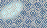 Geo* 47520 blauw hoogglans metaalfolie saffier Luxury by Nature