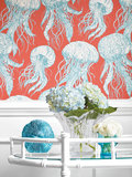 jelly fish behang thibaut summer house sfeer