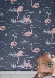 Cole & Son Flamingos behang Icons behangpapier