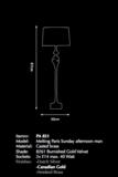 Messing Tafellamp Pieter Adam Lumiere - Man