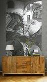 MC Escher Boven en Onder behang sfeer 23182 Up and Down wallcovering Escher