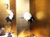 Luxe Japans Antiek Kamerscherm Goud Kraanvogels