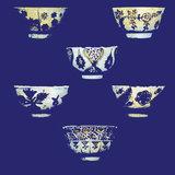 ELITIS Le bleu thé Behang Paneel DM_864_04