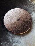 Lederen Metallic Onderzetters Goud Rond Ø 10 cm