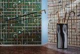 Fornasetti Bastoni behang Cole and Son Senza Tempo behangpapier collectie Luxury By Nature sfeer