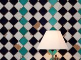 Tiles Turquioise chess behang luxury by nature sfeer 2