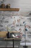 Coordonne Roseus Behang FlamingoRandom Chinoiseries Collectie