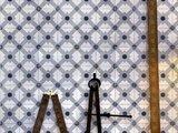 Coordonne Celosia Grey behang tiles behang luxury by nature