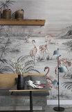 Coordonne Roseus behang 7900133  behangpapier flamingo's