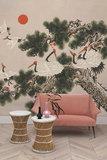 Coordonne Ukiyo Behang Met Kraanvogels Coordonne Random Chinoiserie Behang 7900070