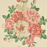 DCAVMI103 Sanderson Behang Caverley Midsummer Rose Red/Green