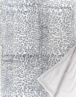 Snow Leopard Fake Fur Bontplaid