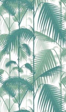 Palm Jungle Wit Donker Groen
