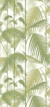 Palm Jungle Behang Wit Licht Groen