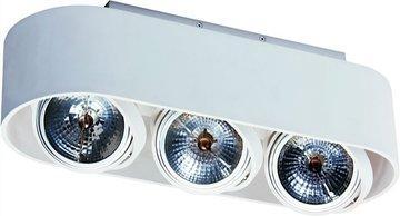 PRO2 Wit 3-lichts Opbouwspot